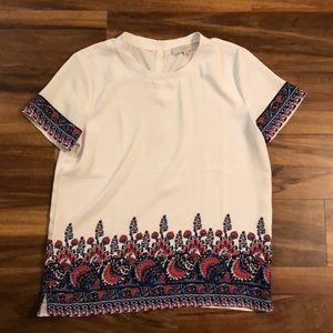 Sz S LOFT short sleeve blouse